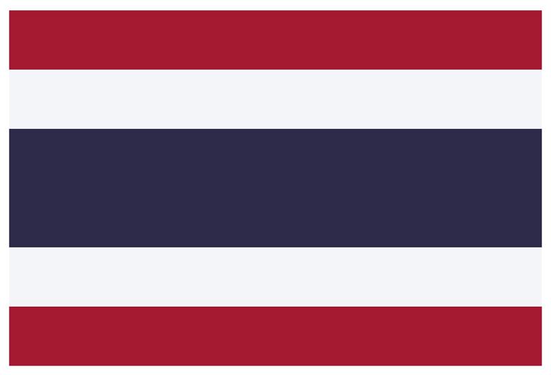 Флаг Таиланда - внешний вид