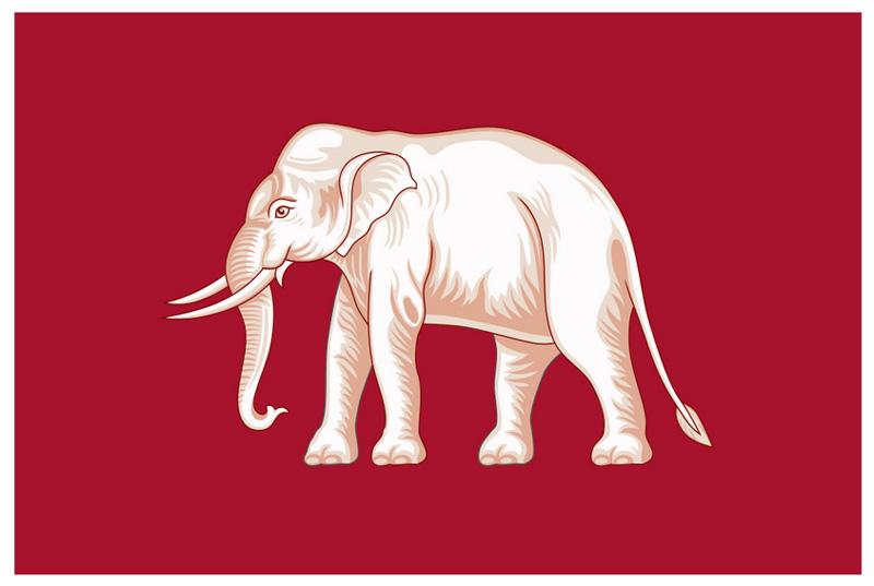 Флаг Таиланда с 1843 по 1916 гг