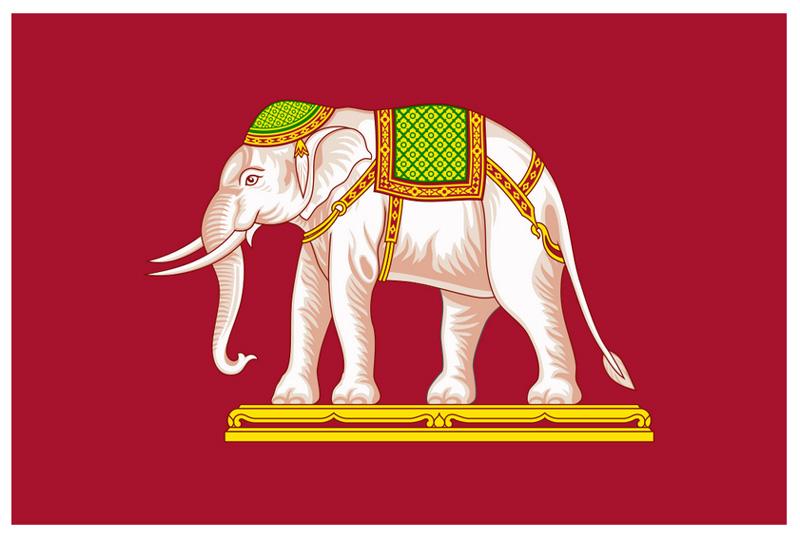 Военно- морской флаг Тайланда 1843 - 1916 гг.