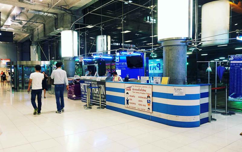Продажа билетов на автобус в аэропорту Суварнабхуми
