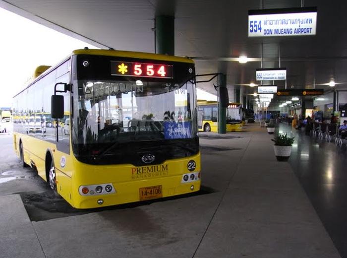 Автобус №554 или №555 из Донмыанг в Суварнабхуми