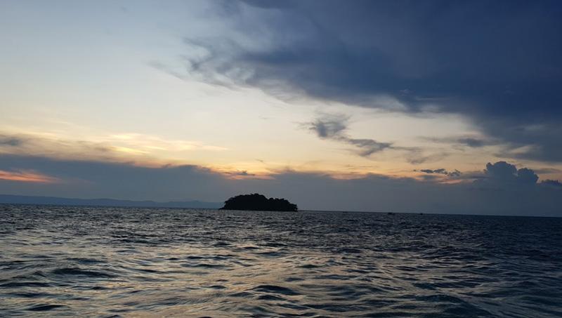 Закат в Сиамском заливе