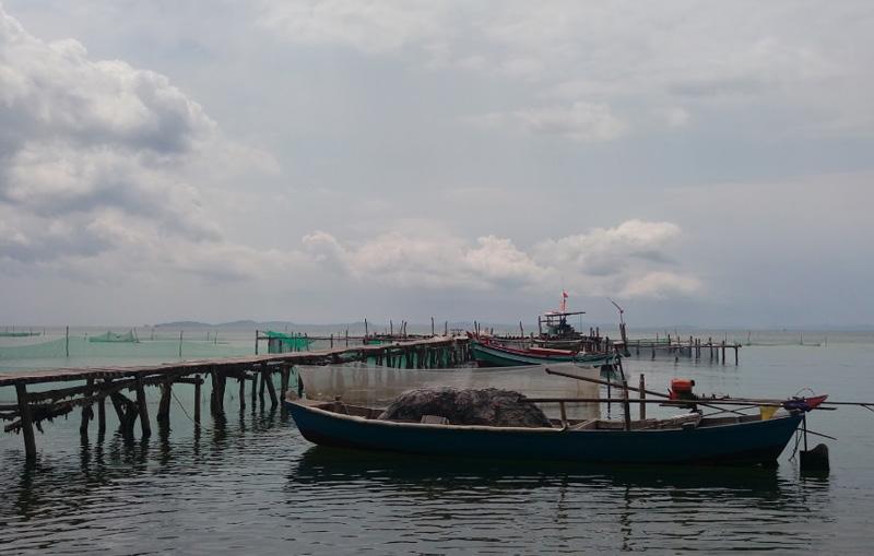 Рыбацкие лодки Сиамском заливе