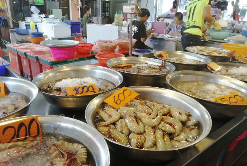 Большой рынок морепродуктов в Наклыа