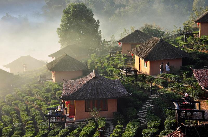 Погода в горных района Таиланда