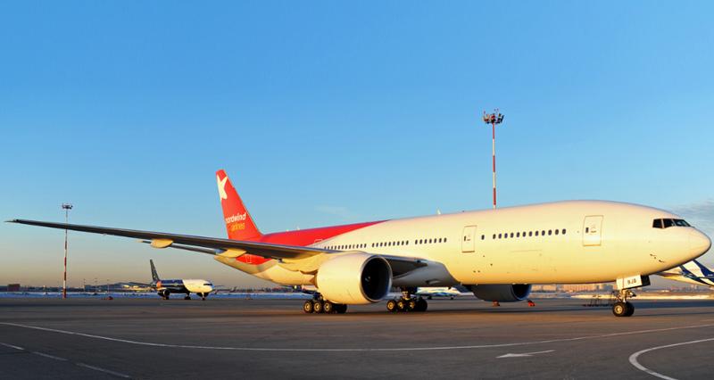 Самолет компании Nordwind Airlines Boeing 777