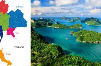 Тайланд на карте