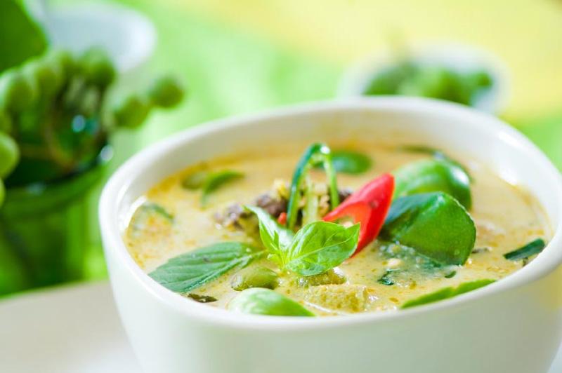 Зеленый суп карри Geng Kiaow Wan