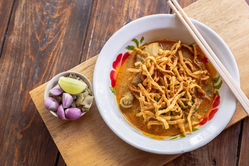 Суп Khao Soi Таиланд