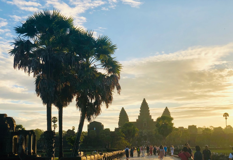 Закат в Ангкор Ват
