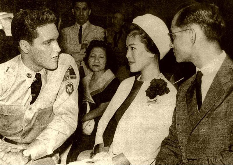 Пхумипхон Адульядет Король Таиланда Рама IX и Элвис Пресли