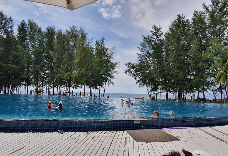 Открытый бассейн в отеле