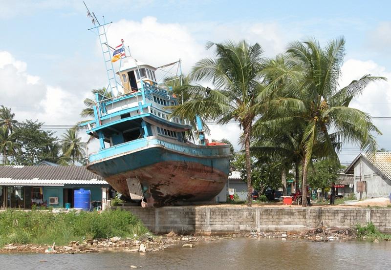 Сила цунами в Таиланде