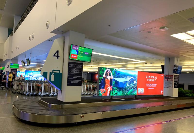 Зона получения багажа аэропорт Пхукет