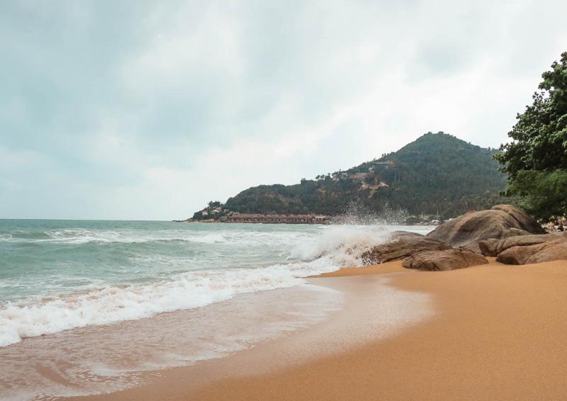 Море на Самуи в декабре