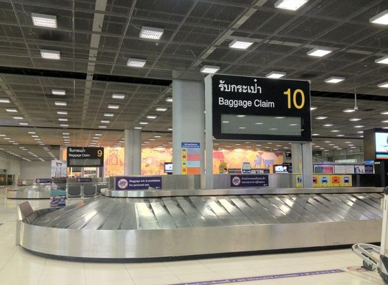 Место получения багажа аэропорта Бангкок