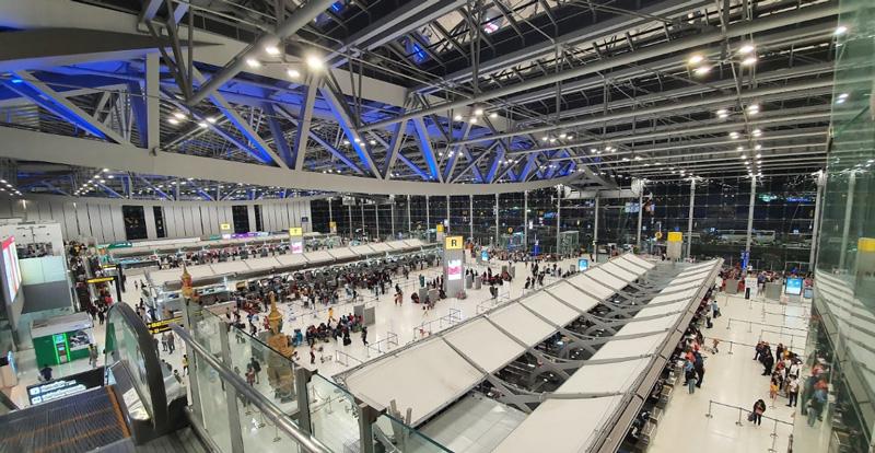 Стойки регистрации аэропорта Бангкок 4 этаж
