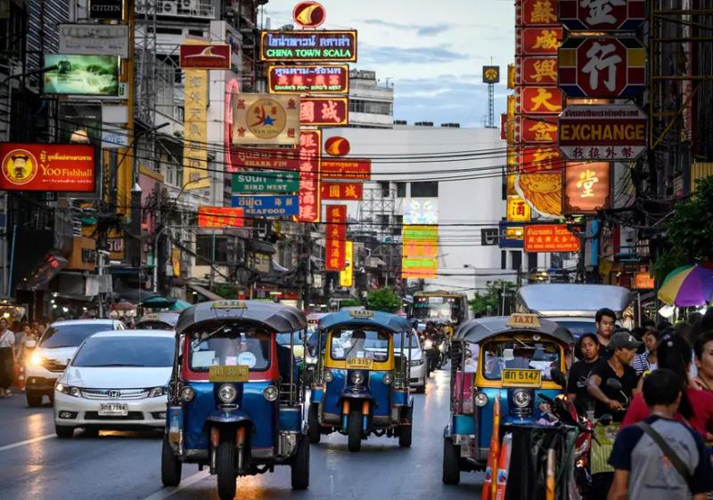 Дорожное движение в Тайланде