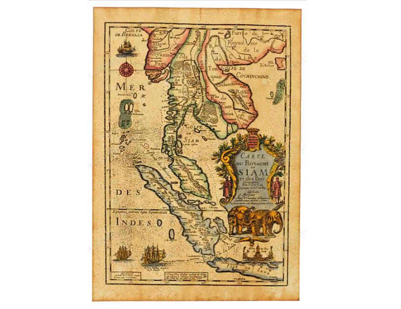 Карта государства Сиам 1686 год