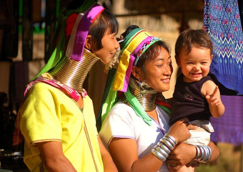 Представители малых народностей Таиланда Карены