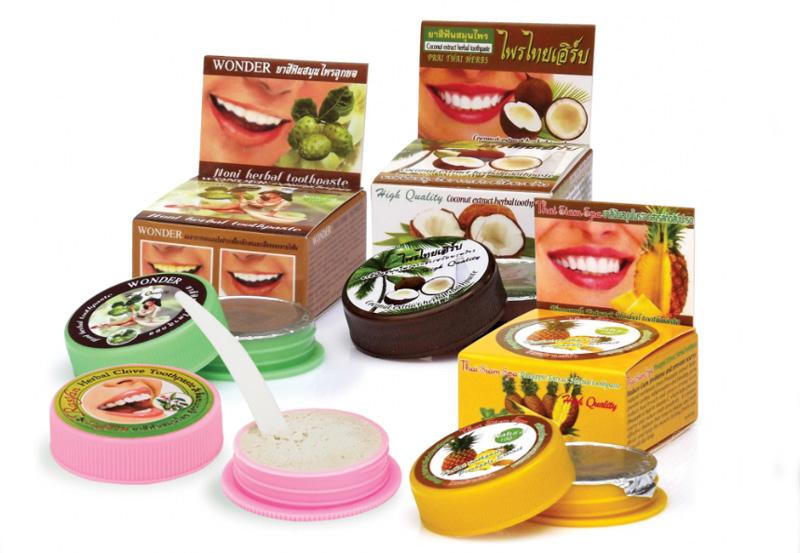Большой выбор вкусов зубной пасты из Таиланда