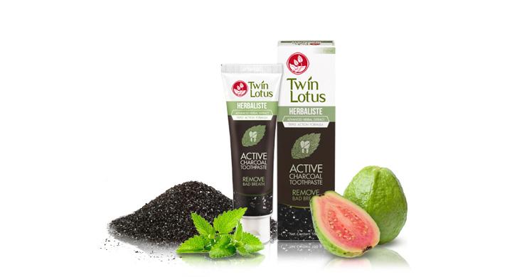 Тайская зубная паста Twin Lotus Active Charcoal
