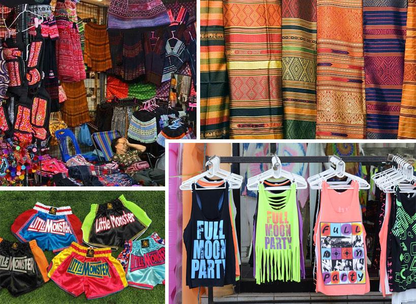 Текстиль и одежда из Тайланда.